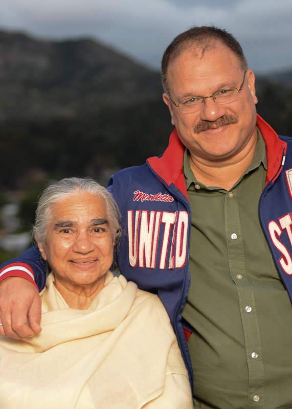Raminder and his mother.